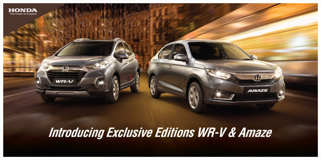 Honda Cars India Introduces Exclusive Editions of Amaze & WR-V