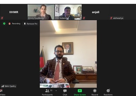 IIHMR University participates in the webinar of Embassy of the Islamic Republic of Afghanistan