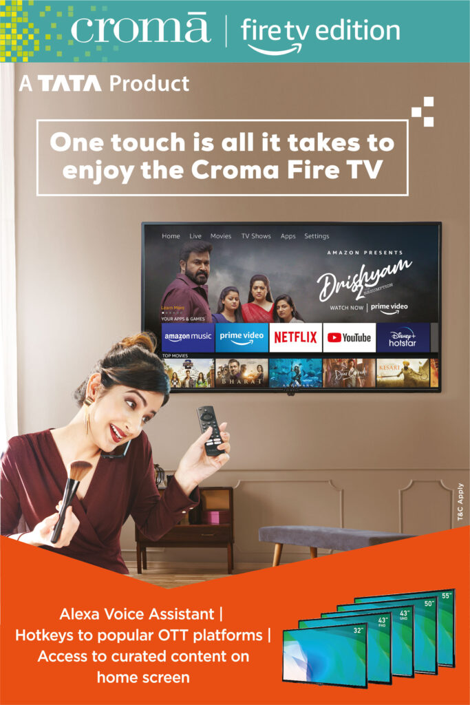 Croma introduces a full range of Croma Fire TV Edition Smart LED TVs