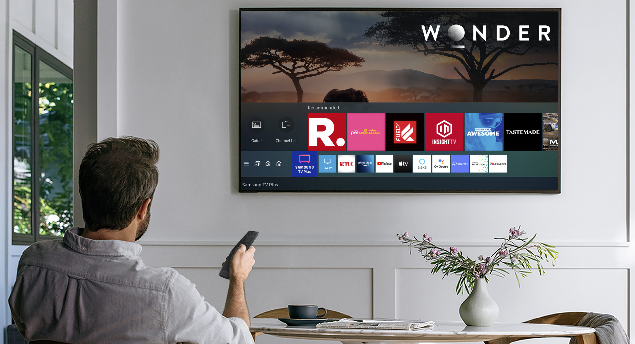 Now watch select free channels on Samsung Smart TVs without a cable connection