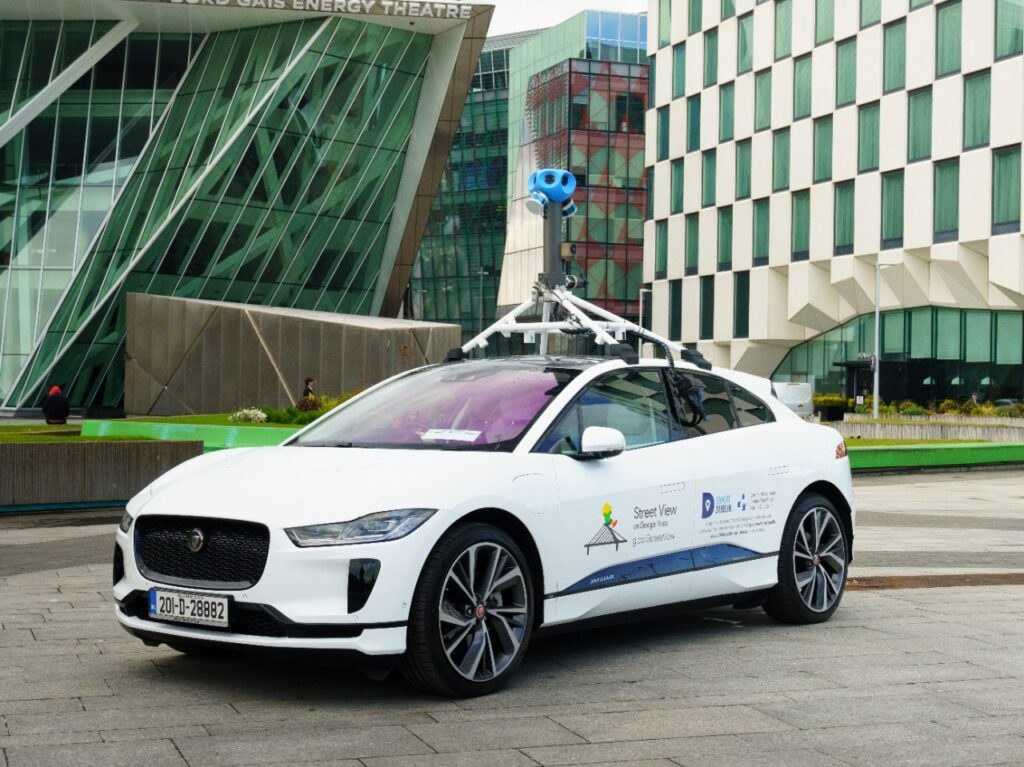 Jaguar Land Rover & Google Measure Dublin Air With I-Pace electric Google vehicle