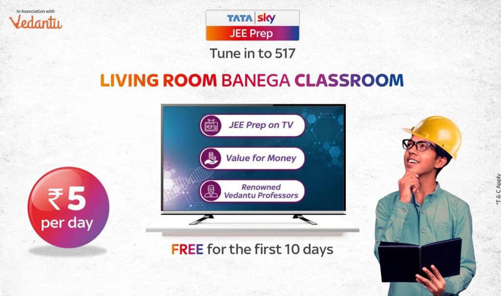Tata Sky and Vedantu to empower JEE and NEET aspirants with affordable access to quality education on their TV screens