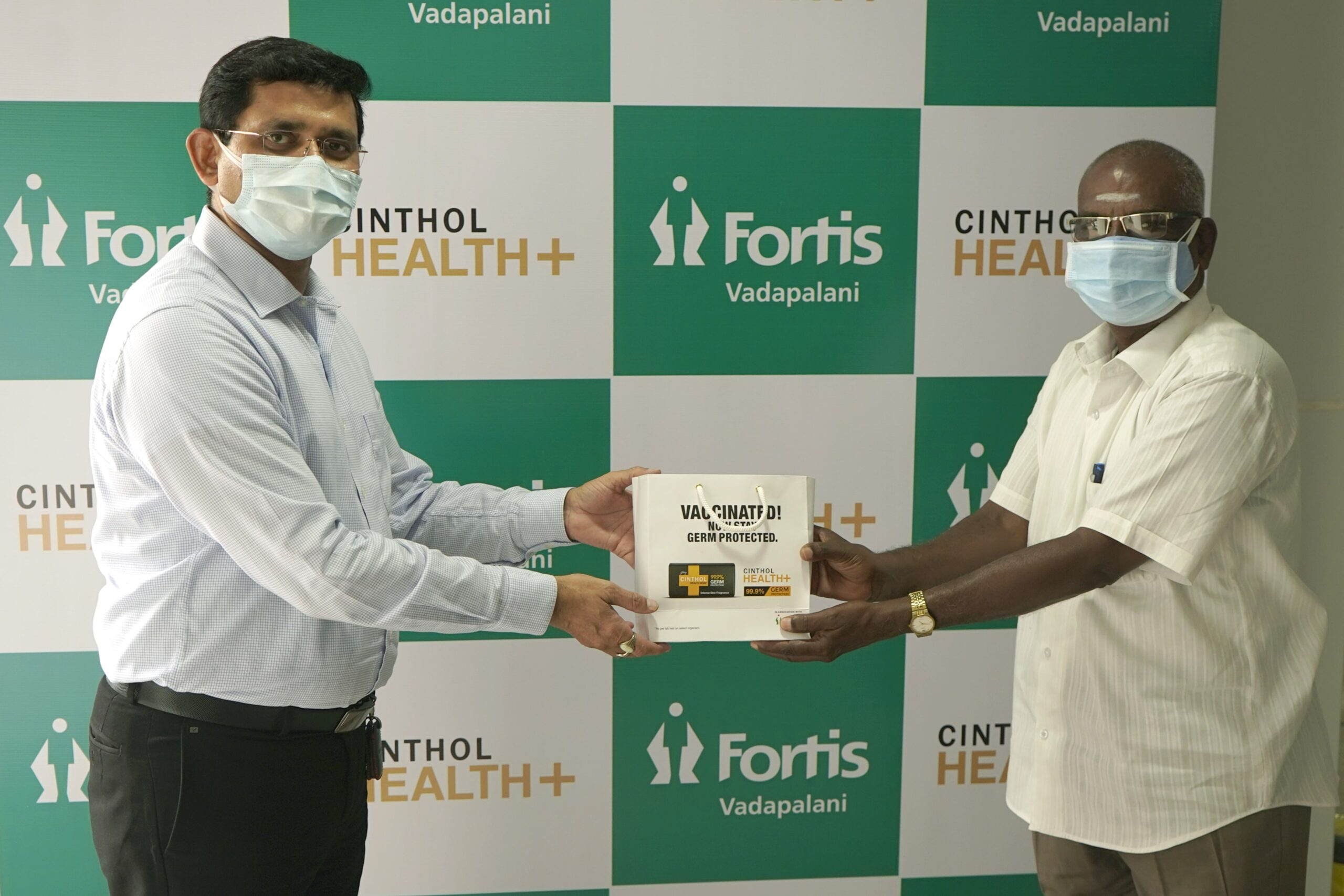 Cinthol Health Plus and Fortis announce a partnership initiative for post COVID-19 vaccine sensitization