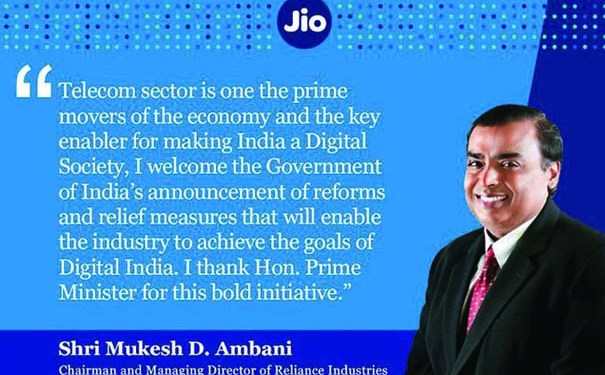 Mukesh Ambani welcomes govt's relief measures for telecom operators