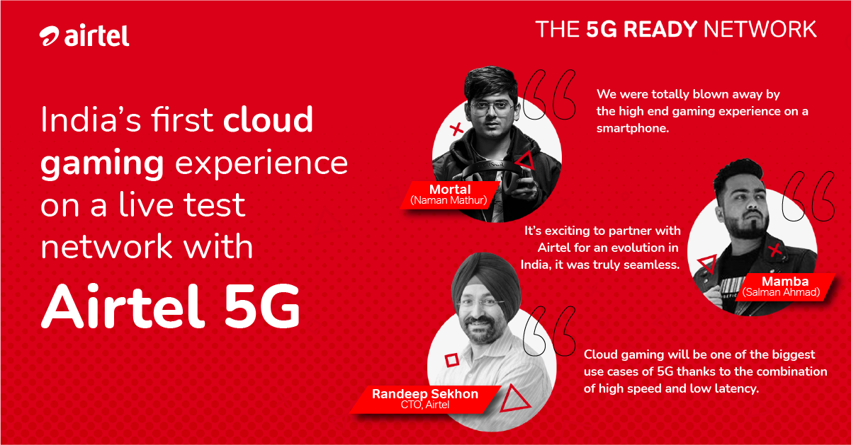 Airtel demonstrates India's first Cloud Gaming experience on a 5G network