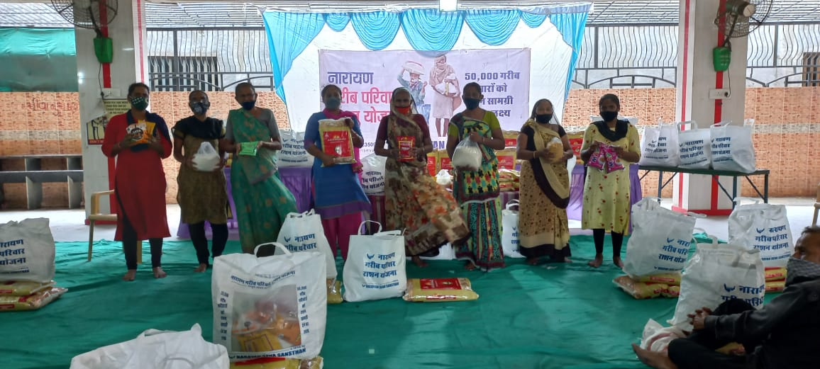 41 destitute families got free monthly ration kits in Ahmedabad